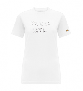 Bella Freud White Political T-Shirt