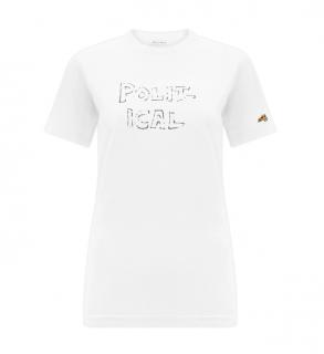 Bella Freud White Political T-Shirt