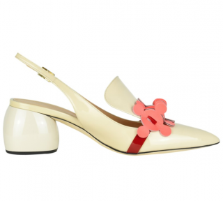 Anya Hindmarch Ivory Embellished Slingback Sandals