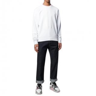 Maison Martin Margiela White Self Draw Sweater W/ Margiela Pens
