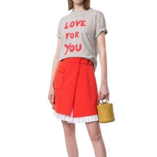 Bella Freud Grey Love For You T-Shirt