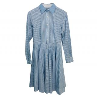 Ralph Lauren Blue Striped Shirt Dress