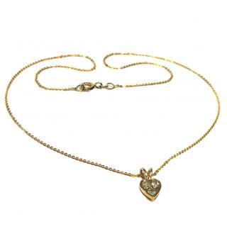 Bespoke Yellow Gold Diamond Heart Pendant Necklace