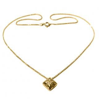 Bespoke Diamond Set Yellow Gold Present Pendant Necklace