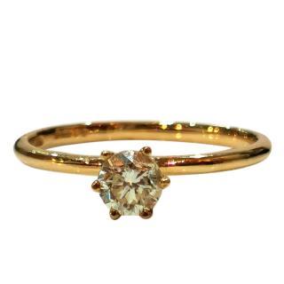 Cred Bespoke Yellow Diamond Solitaire Ring