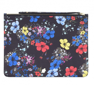 Erdem Floral Print Large Leather Pouch