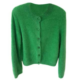 Boutique Moschino Green Lurex Cardigan