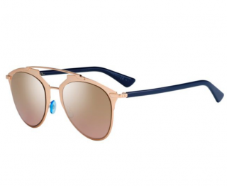 Dior Navy & Rose Gold Reflective 3210 Sunglasses