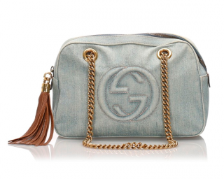 Gucci Denim Soho Chain Shoulder Bag
