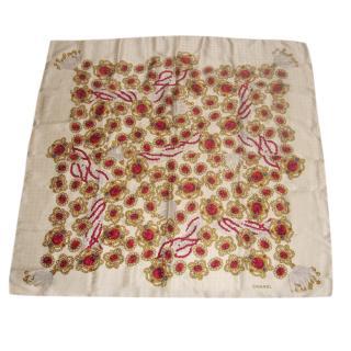 Chanel Silk Jewellery Print Scarf