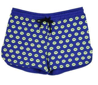 Markus Lupfer Blue Lip Print Shorts