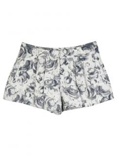 Markus Lupfer Floral Brocade Pleated Shorts