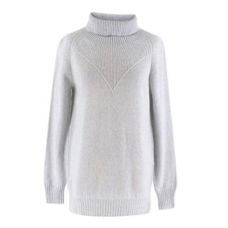 Marc Cain Wool Blend Grey Rollneck Knit Sweater