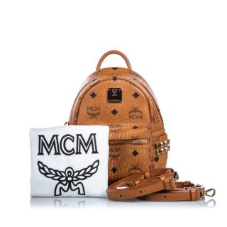 MCM Visetos Leather Stark Bebe Boo Backpack