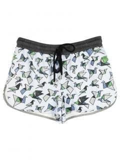 Markus Lupfer Origami Bird Print Shorts