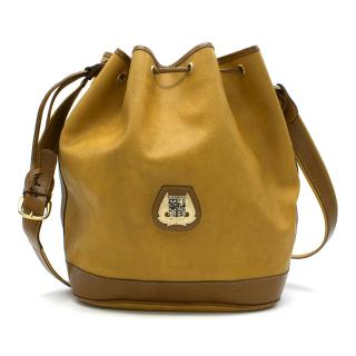 Lancel Vintage Mustard Bucket Bag