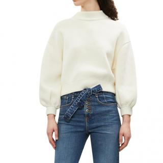Ba&sh Austin Ecru White Jumper