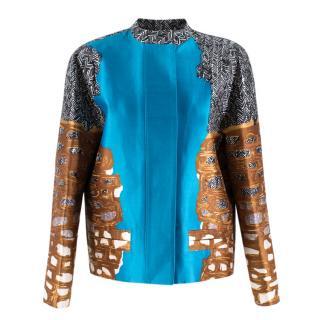 Balenciaga Paris Abstract multi Print Jacket