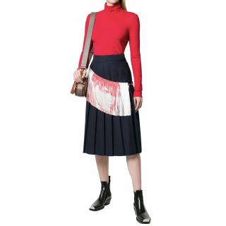 Calvin Klein 205W39NYC fringe detail pleated skirt