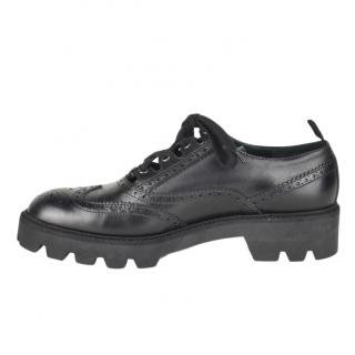 Mulberry Leather Black Brogues