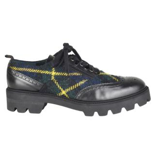 Mulberry Tartan & Leather Brogues