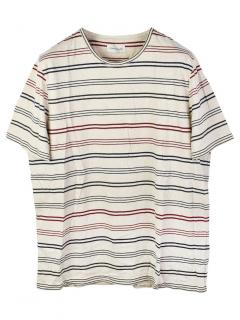 Oliver Spencer Austen Stripe Multicolour T-Shirt