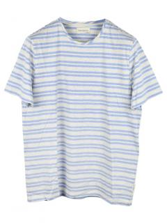 Oliver Spencer Blue Conduit Block-stripe T-shirt
