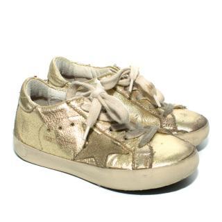 Golden Goose Distressed Childrens Superstar Sneakers