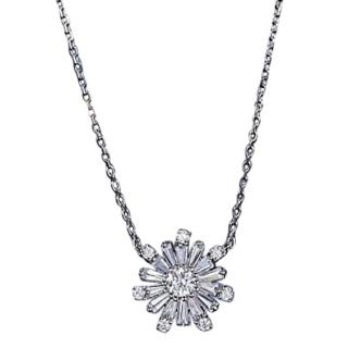 Fei Lu Crystal Starbirst Pendant Necklace