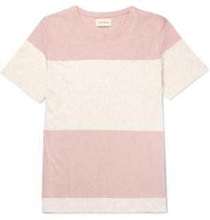 Oliver Spencer Conduit Striped M�lange Cotton-jersey T-shirt