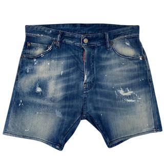 DSquared Denim Distressed Shorts