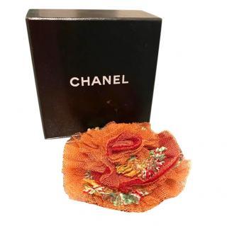 Chanel Camellia Organza Brooch