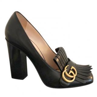 Gucci Black Marmont Leather Pumps