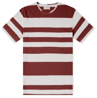 Oliver Spencer Conduit Tee in Penryn Red