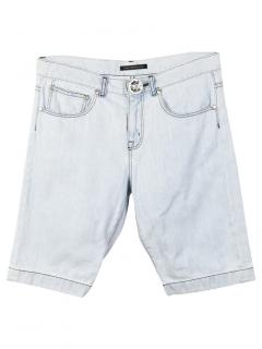 Christopher Kane Swarovski Crystal Button Denim Shorts