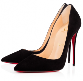 Christian Louboutin Black Suede So Kate 120 Pumps