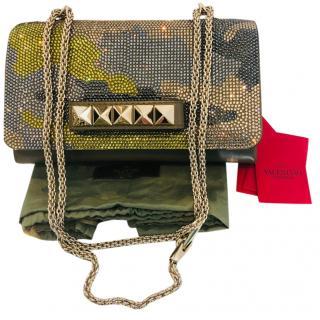 Valentino Crystal Camo Va Va Voom Rockstud Bag