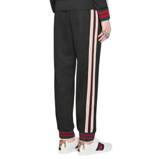 Gucci Black Side Stripe Joggers size M