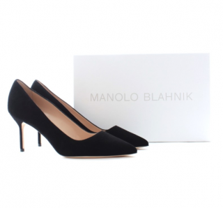 Manolo Blahnik Black BB 70 Pumps