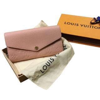 Louis Vuitton Pink Monogram Empreinte Sarah Wallet