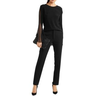 Roland Mouret Black Tailored Pants