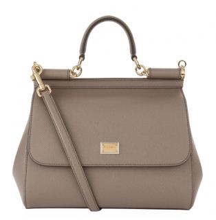 Dolce & Gabbana Taupe Sicily Bag