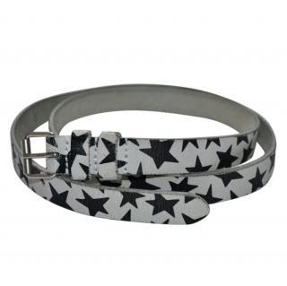Saint Laurent star print leather belt