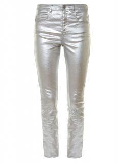 Isabel Marant Etoile Metallic High-rise Skinny Jeans