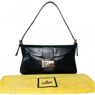 Fendi Black Vintage Baguette Bag