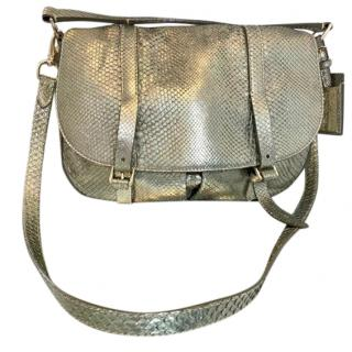 Ralph Lauren python skin shoulder bag