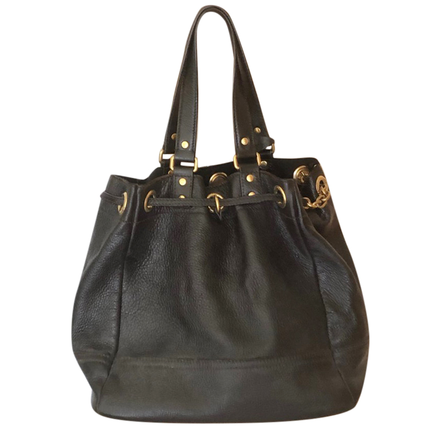 Yves Saint Laurent Black Leather Tote Bag