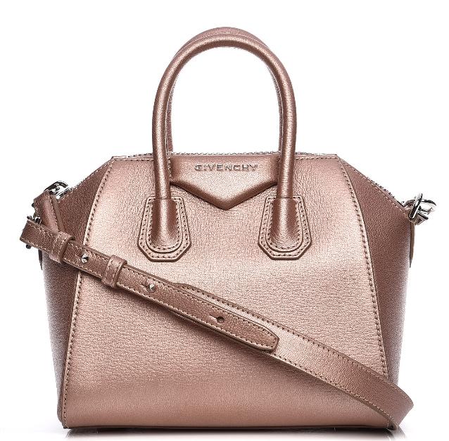 Givenchy Sugar Goatskin Mini Antigona in Light Pink
