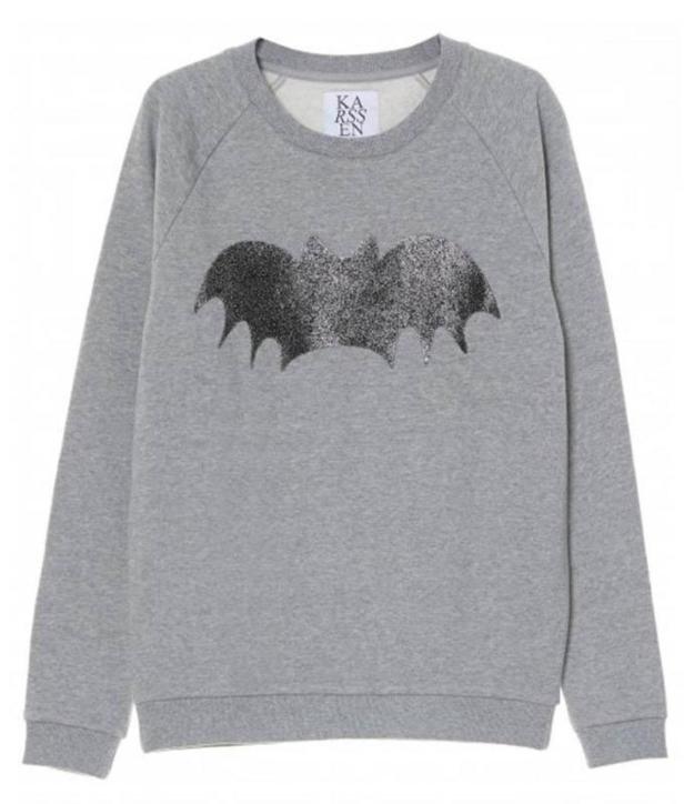 Zoe Karssen Grey Bat Print Sweatshirt