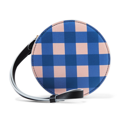 Diane Von Furstneberg Circle gingham leather pouch